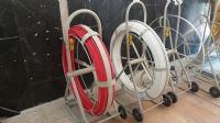فنر کابل کشی فایبرگلاس مخابرات  (Fiberglass push rod cable reel)